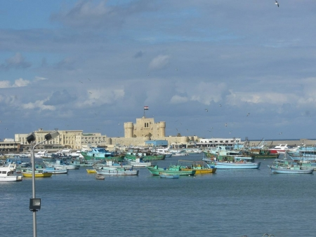 Qaitbey Fortress in Alexandria, Egypt
