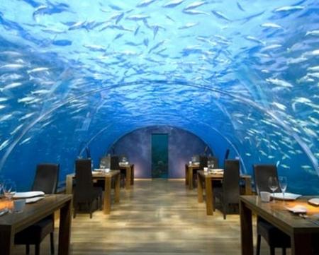El famoso restaurante bajo el mar.