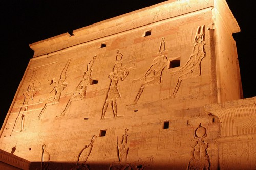 Inscriptions in The Philae Temple