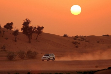 Safari in Hurghada bei Sonnenuntergang