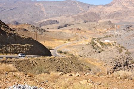 Traffic in Jebel Shams