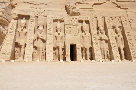 The Temple of Queen Nefertari at Abu Simbel
