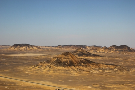 The Black Desert in Western Desert of Egypt