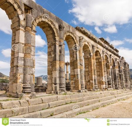 Parte escavada da cidade Romana