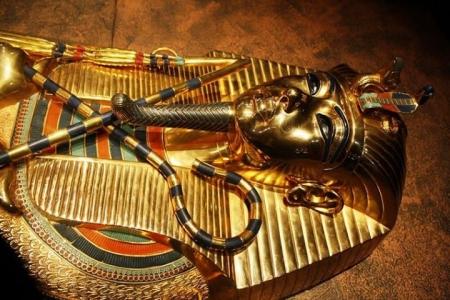 Tutankhamun Coffins inside the Egyptian Museum