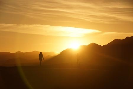 Pôr do sol no deserto
