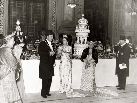 King Farouk and Queen Farida Marriage 1938