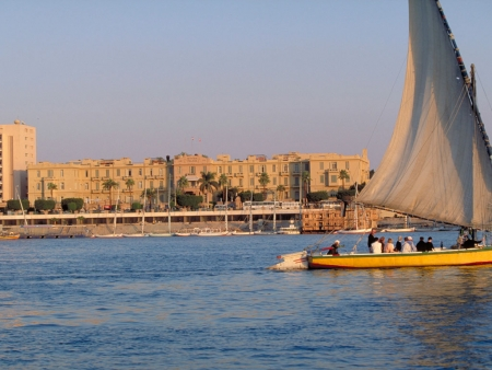 Felucca Sailinn Boat on the Nile, Luxor