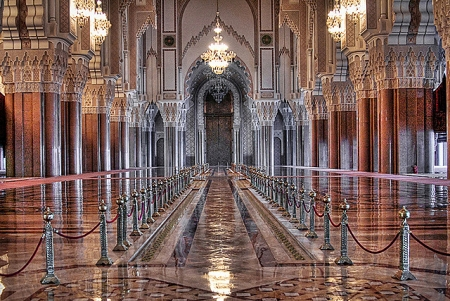 Inside Hassan II Mosque