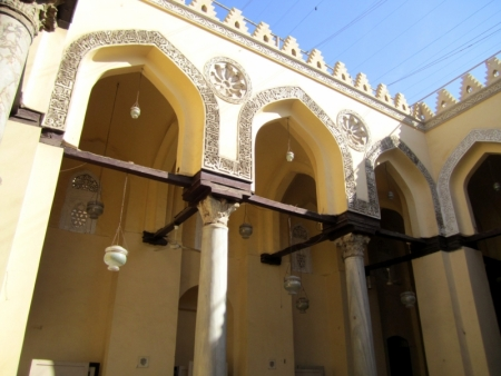 Inside Al-Aqmar Mosque in Al-Muizz Street