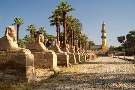 Sphinxes Avenue at Karnak Temples