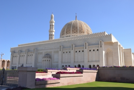 Sultan Qaboos Moschee in Muscat