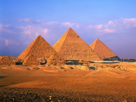 Pyramids at Cairo, Egypt