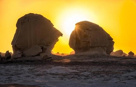 Sunset Views at the White Desert