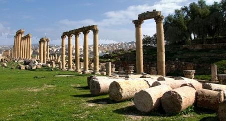 Pilastri della Città Romana di Jerash