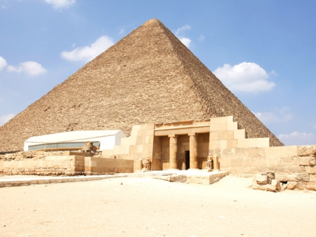 Cheops Pyramid  and Solar Boat Museum in Giza