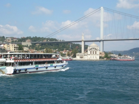 The Bosphorus Strait and Bridge