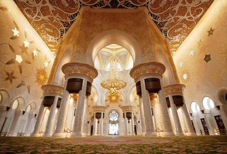 Inside Sheikh Zayed Grand Mosque