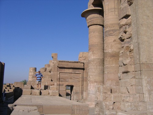 Inside Kom Ombo Temple