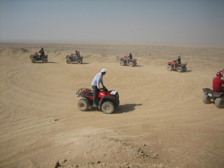 Sunset Quad Bike Safari Tour in Luxor