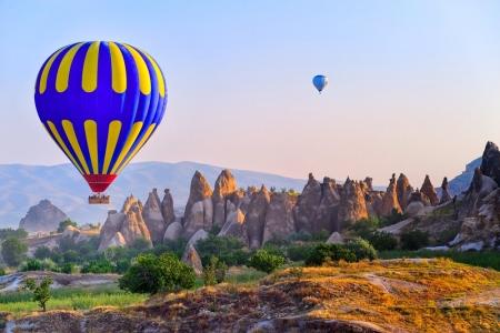 Balloon rode over Cappadocia, Turkey