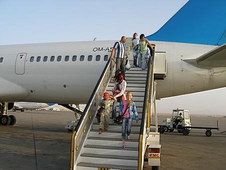 Airplane of Hurghada Airport