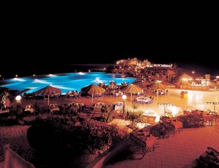 Kahramana Beach Resort at Night