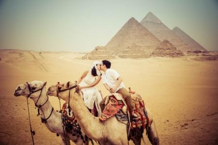 Romantic Memories at the Pyramids