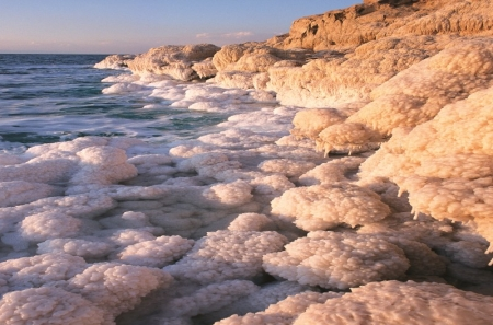 The Dead Sea Salty Water