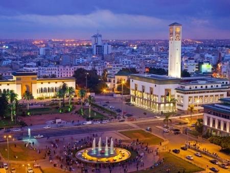 カサブランカ市内、モロッコ