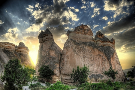 The  Fairy Chimneys in Cappadocia