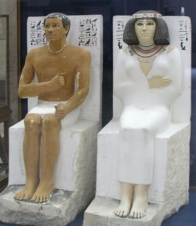pharaoh and queen , Egyptian Museum