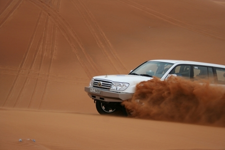 Dune-Bashing in Abu Dhabi