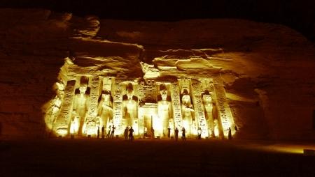 Abu Simbel Temple at night