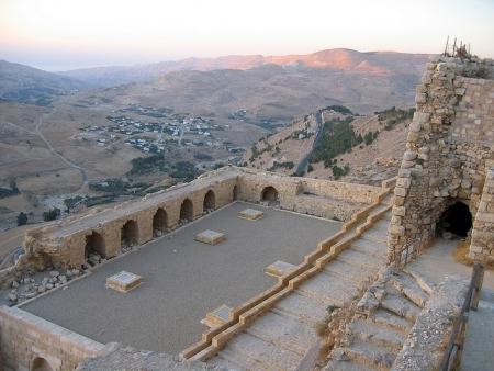 Vista della Città di Kerak dal Castello