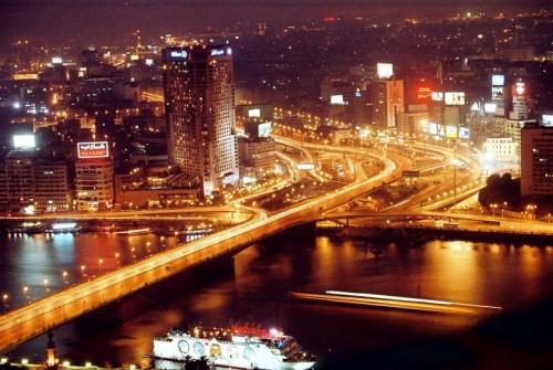 EL río Nilo por la noche