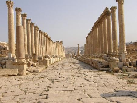 ローマの列柱通り、ジェラシュ、ヨルダン