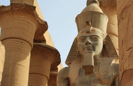Colossus Inside Luxor Temple