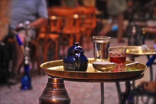 Traditional Tea with Mint in Khan El Khalili