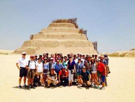 La Pirámide Escalonada de Zoser, Egipto.