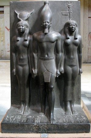 Statue of Menkaure with Two Deities