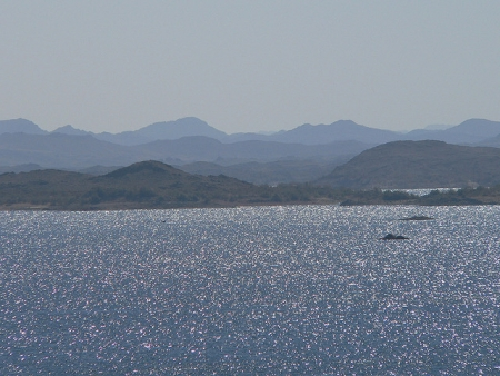 Reflection of Sunray on Lake Nasser