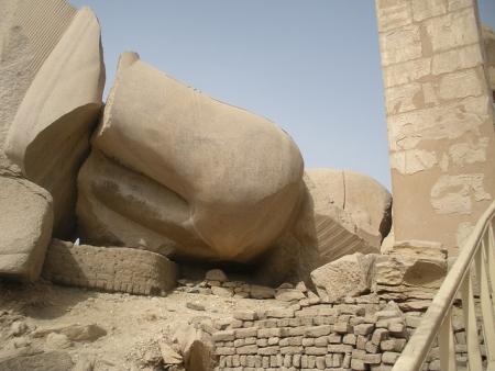 Destroyed Statue of Ramesess II