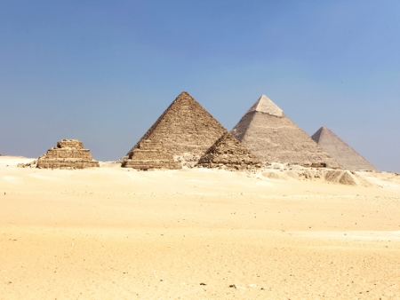 Panoramic view for Giza Pyramids