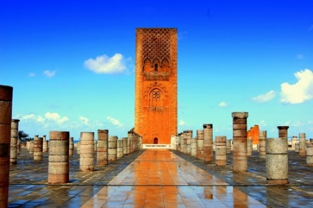 Stunning Hassan Tower in Rabat