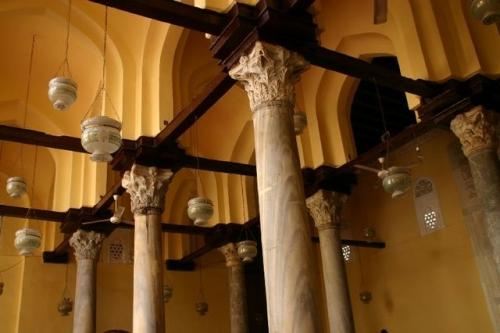 Columns inside Al Aqmar Mosque