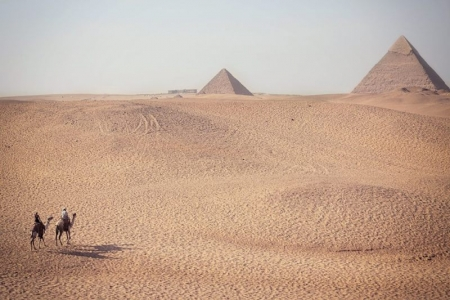 Camel ride at the Pyramids, Cairo