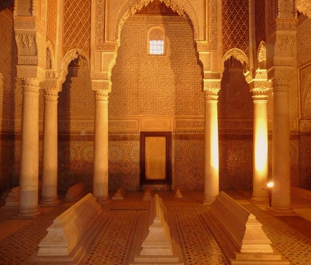 Saadin Tombs in Marrakech