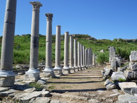 Colonnaded Street in Perge, Antalya