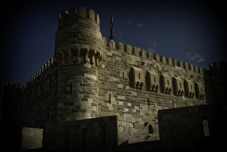 Day night at Qaitbay Citadel in Alexandria
